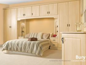 Bury - Contemporary Vinyl Wrapped Door - Canadian Maple
