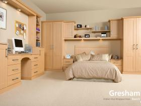 Gresham - Shaker Vinyl Wrapped Door - Beech