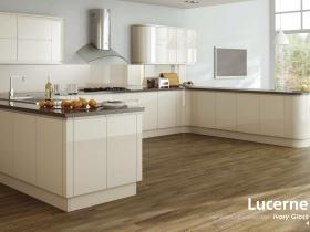 Lucerne - Handleless Lacquered Door - Ivory Gloss