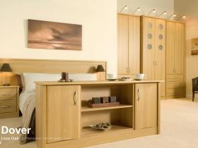 Dover - Lissa Oak - Contemporary Vinyl Wrapped Door