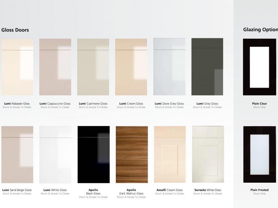 Stock Door Options - Gloss Doors