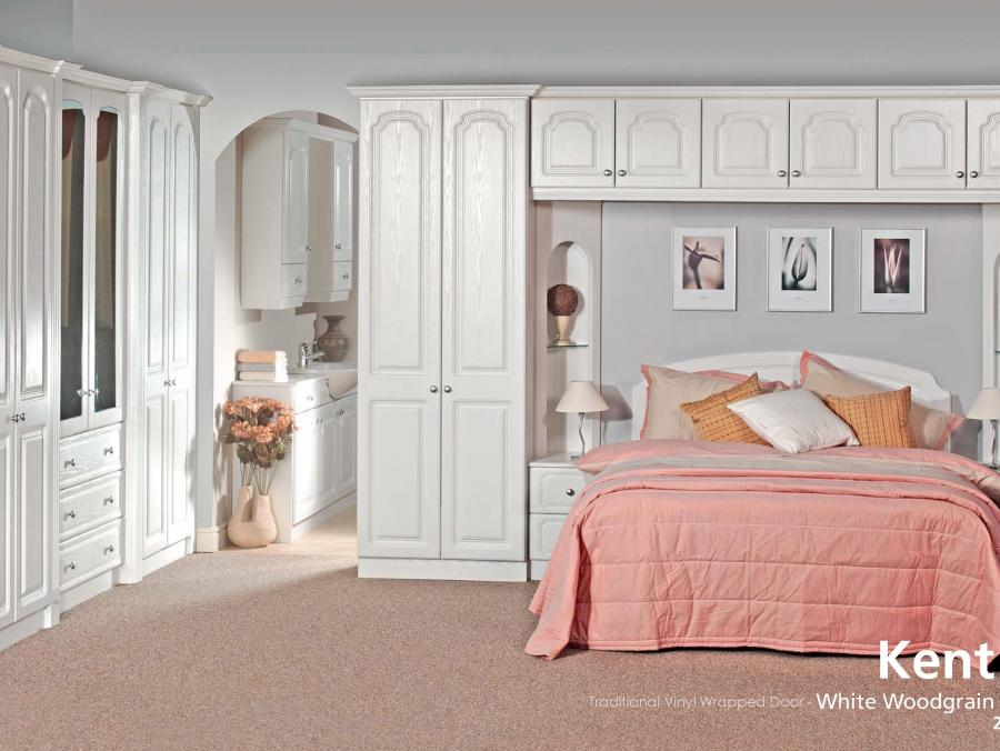 Kent - Traditional Vinyl Wrapped Door - White Woodgrain