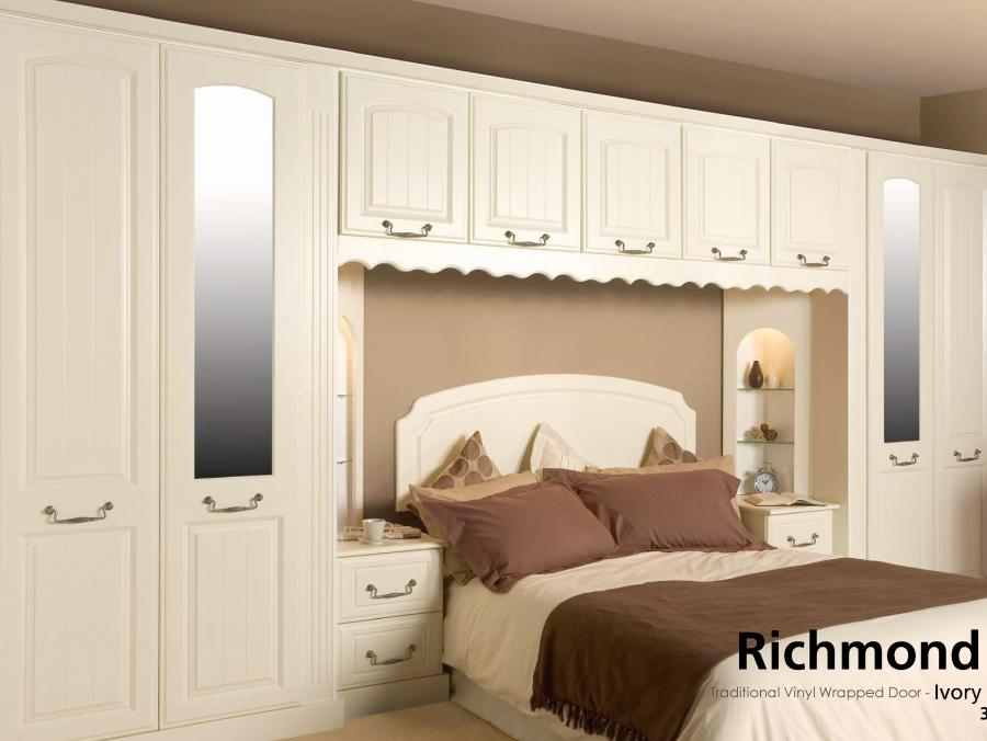 Richmond - Traditional Vinyl Wrapped Door - Ivory
