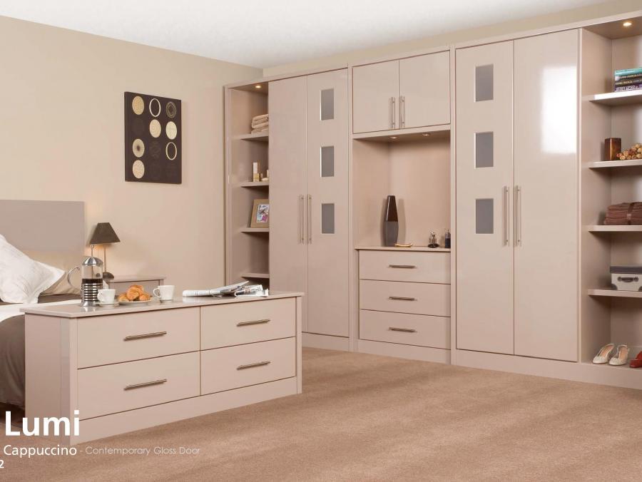Lumi - Cappuccino - Contemporary Gloss Door