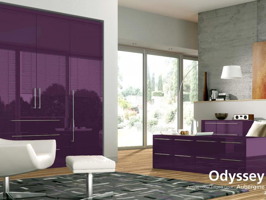 Odyssey - Acrylic Laser Edged Door - Aubergine