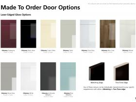 Made To Order Door Options - Laser Edged Gloss Options