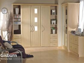 Gisburn - Montana Oak - Contemporary Vinyl Wrapped Door